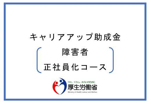 キャリアアップ助成金(障害者正社員化コース) 厚生労働省